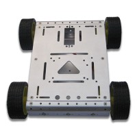 4WD Drive Aluminum Mobile Robot Car Chassis Arduino Platform - Sliver