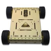 4WD Drive Aluminum Mobile Robot Car Chassis Arduino Platform - Golden