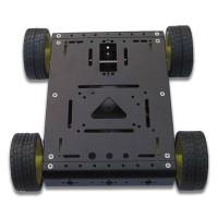 4WD Drive Aluminum Mobile Robot Car Chassis Arduino Platform - Black