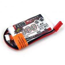 Dualsky XP03002GT-S 300mAh LiPo Battery Pack 2S1P 7.4V 45C/6C