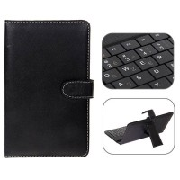 Mini USB Franch Keyboard Leather Case with Stylus for 7 inch Tablet PC-Franch