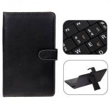 Mini USB Portuguese Keyboard Leather Case with Stylus for 7 inch Tablet PC-Portuguese