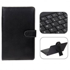 Mini USB Spanish Keyboard Leather Case with Stylus for 7 inch Tablet PC-Spanish