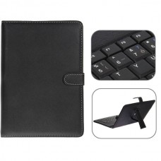 USB 2.0 Franch Keyboard Leather Case with Stylus for 10 inch Tablet PC- Franch