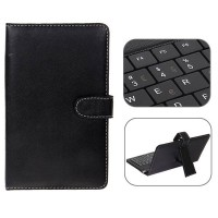 USB 2.0 Portuguese Keyboard Leather Case with Stylus for 7 inch Tablet PC-Portuguese