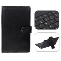USB 2.0 Spanish Keyboard Leather Case with Stylus for 7 inch Tablet PC-Spanish