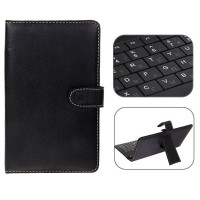 Mini USB Russian Keyboard Leather Case with Stylus for 7 inch Tablet PC-Russia