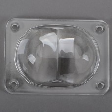 110 x 80MM LED Light Optical Glass Convex Lens Projector Reflector for Street Light