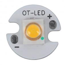 3W SEMI LED Emitter with 16mm Alumnium Based Board-Warm White
