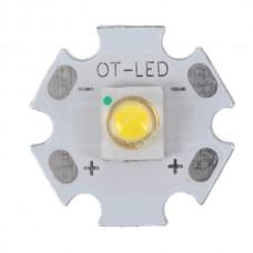 1W SEMI LED Emitter with 20mm Alumnium Based Board-Cool White