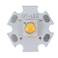 1W SEMI LED Emitter Light with 20mm Alumnium Based Board-Warm White