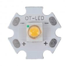 1W SEMI LED Emitter Light with 20mm Alumnium Based Board-Warm White