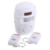 Infrared Motion Wireless PIR Sensor Alarm 105dB Detector Alarm