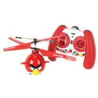 Angry Birds Flying Helicopter RC Assembled Airplane-Red