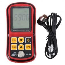 Digital Ultrasonic Thickness Meter Tester Gauge Velocity 1.2~225mm Metal GM-100