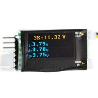 Telemetry Accessories  FrSky LiPo Voltage Sensor FLVS-01 1S-6S up to 12S with OLED Screen