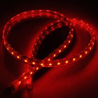 5M SMD 5050 300 LED Flexible LED Strip Lamp 220VAC Waterproof with Plug- Red