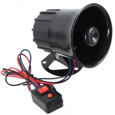 Electronic Siren  Air Horn with Switch- Black