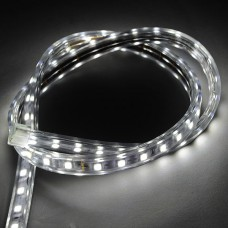 1M SMD 5050 60 LED Flexible LED Strip Lamp 220VAC Waterproof with Plug- White