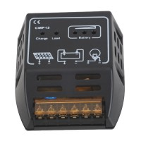 5A 12V/24V Portable Solar Panel Charger Controller DC