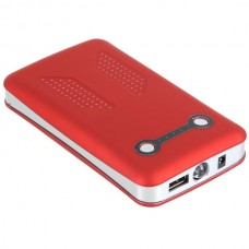 12000mAh Travel Power Mobile Power with Battery Indicator Red