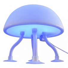 Cute Soft Rubber Jellyfish Style USB Powered White Blue Light Desktop Lamp Special Gift