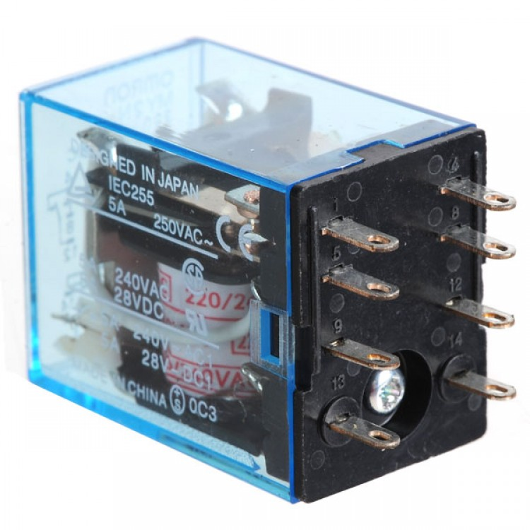 10PCS OMRON Relay MY2NJ AC 220V Coil Power Relay With LED Pilot