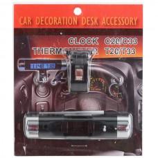 Digital Automotive Clock Car Thermometer Portable Sport Practical Clock C20
