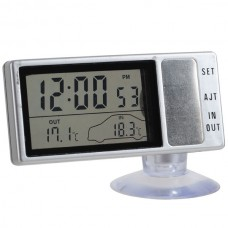 Car Thermometer with Clock LCD Digital Car Thermometer 13H