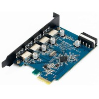4-Port USB 3.0 High Speed PCI-E Expansion Card for Desktop