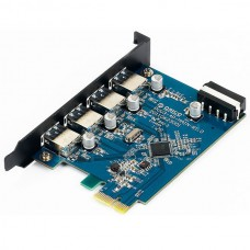 4-Port USB 3.0 High Speed PCI-E Expansion Card for Desktop