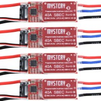 Mystery 40A UBEC Brushless ESC 5V/3A BEC Programable Speed Controller for RC Airplane 4-Pack
