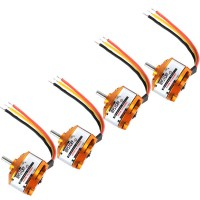 MYSTERY A2208-14 1450KV Outrunner Brushless Motor for RC Helicopter- 4 Pack