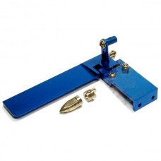 95mm CNC Aluminum Alloy Adjustable Dual Bibulous Rudder with for RC Boat RC Ship Blue