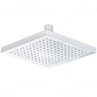"""8"""" Square 3-Color 12 LED Battery-Free Water Temperature Sensor Shower Head"""