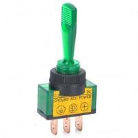 Car Toggle Switch with Green LED Indicator (DC 12V / Vehicle DIY)