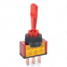 Car Toggle Switch with Red LED Indicator (12V / Vehicle DIY)