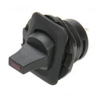 Car Rocker Button Switch w/ Red Indicator - Black (DC 12V / Vehicle DIY)
