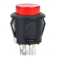 Car Push Button Switch with Red LED Indicator 12V  Vehicle DIY