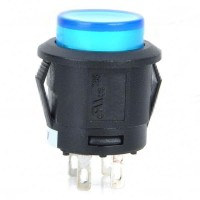 Car Push Button Switch with Blue LED Indicator 12V Vehicle DIY