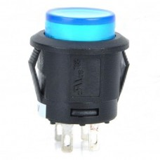 Car Push Button Switch with Blue LED Indicator 12V Vehicle DIY