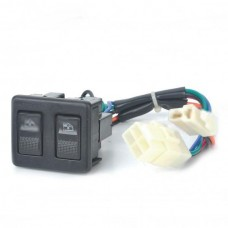 12V ST0408 Auto Double Power Window Switch - Black