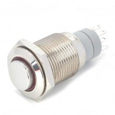 12 VDC Car Stainless Steel Switch w/ Red Indicator