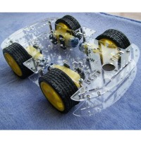4WD Smart Car Chassis Car Body Tracking Tracing Robot Car with Encoding Disk