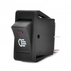 Car Fog Light Switch with Red LED Indicator 12V