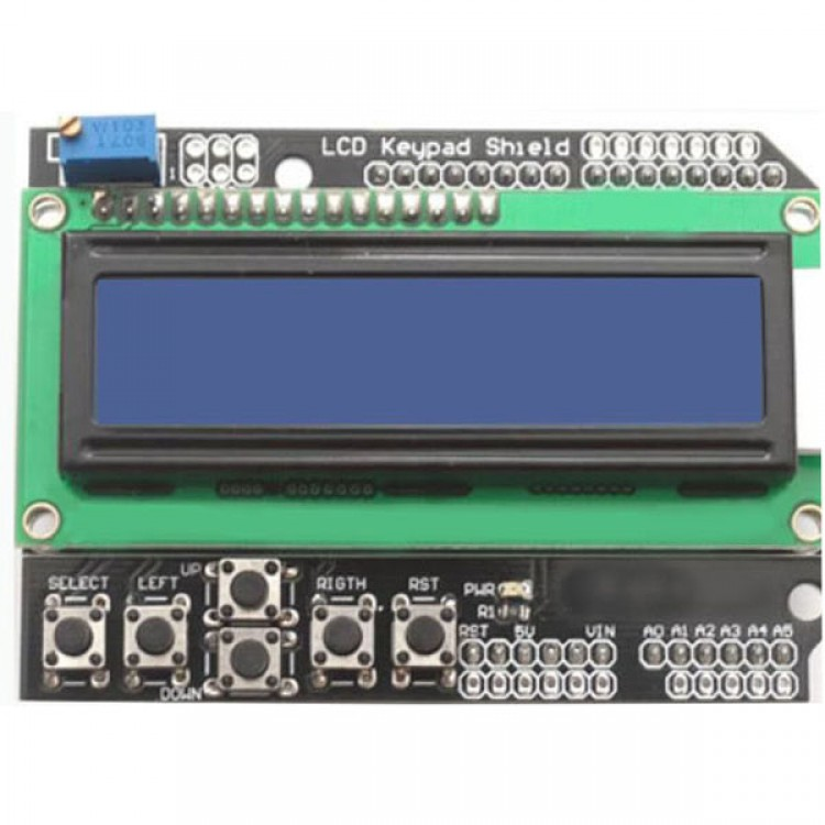 LCD 1602 Blue Keypad Shield for Arduino Duemilanove Module Expansion Board