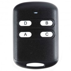 4 Channel Universal Long Distance Wireless 4 Keys ABS Remote Controller Black