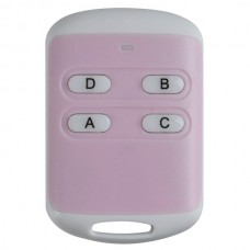 4 Channel Universal Long Distance Wireless 4 Keys ABS Remote Controller Pink