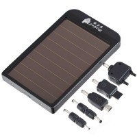 2600mAh Portable External Mobile Backup Battery Solar Charger Pocket Power for iPhone 4 4G 3G iPod