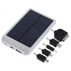 0.7W 2600mAh Portable External Mobile Backup Battery Solar Charger Pocket Power for iPhone 4 4G 3G iPod